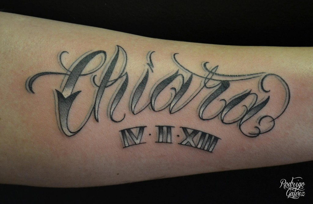 Name Tattoo With Date Chiara Products Of Switzerland